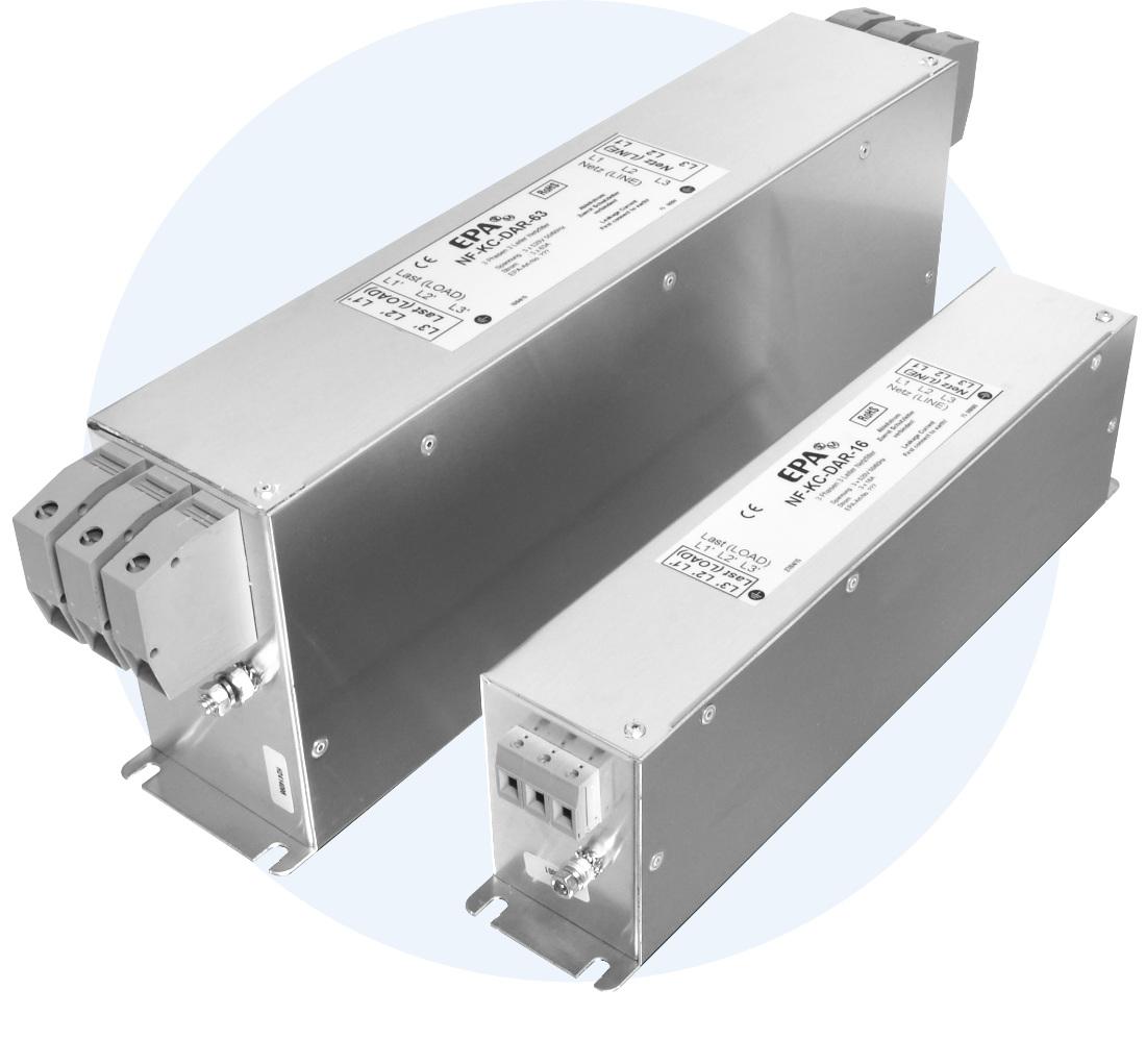 EPA Kompaktfilter Dreiphasen-Netzfilter NF-K-16